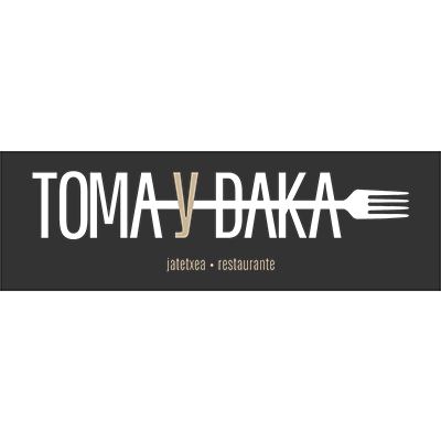 Logo restaurante Toma y Daka por Ticmatic desarrollo web marketing online Vitoria Gasteiz
